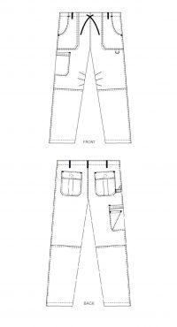 Comfort Rise Drawstring Elastic Scrub Pant