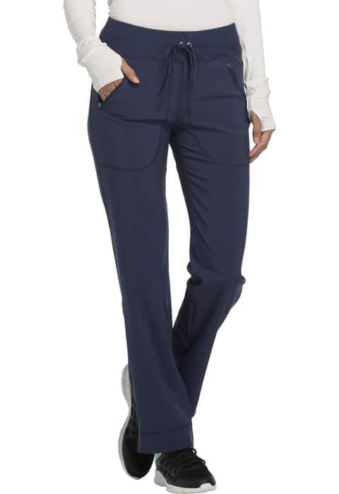 Mid Rise Tapered Leg Drawstring Pants