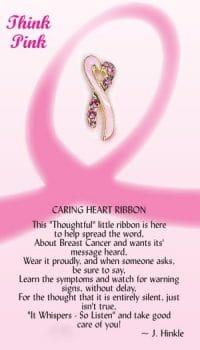 Caring Heart Ribbon Pin