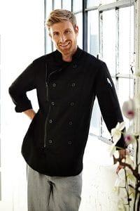 Zipper Closure Chef Coat