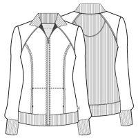 Infinity Zip Front Warm-Up Jacket
