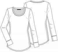 Print Long Sleeve Underscrub Knit Tee
