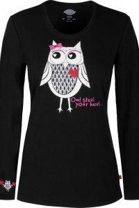 Owl Steal Your Heart Underscrub Tee