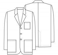 Men's 31″ Consultation Lab Coat