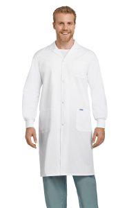 Unisex Cuffed Arm Full Length Lab Coat